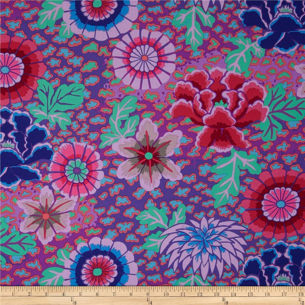 Kaffe fassett dream purple discount designer fabric for Modern fabrics textiles