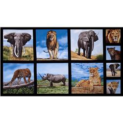 Nature Studies Animal Blocks 24'' Panel Wild Fabric
