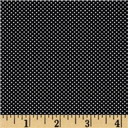 Moda Dottie Tiny Dots Jet Black Fabric