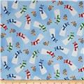 Santa's Little Helpers Snowmen Blue