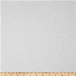 Essential Dotty Waves 108'' Wide Quilt Back White