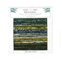"Bali Crackers Parrot 10"" Squares"