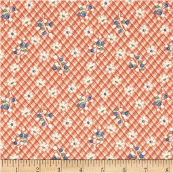 Fall Frolic Lattice Floral Orange