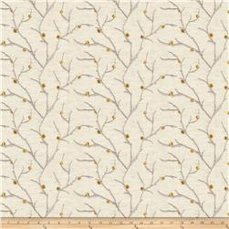Fabricut  Embroidered Linen Norroway Goldleaf