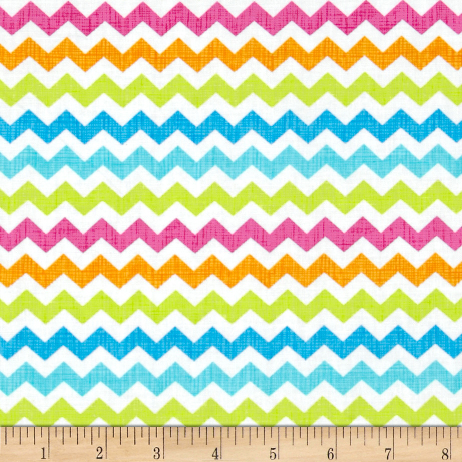 Timeless Treasures Ziggy Small Chevron Candy Multi Fabric