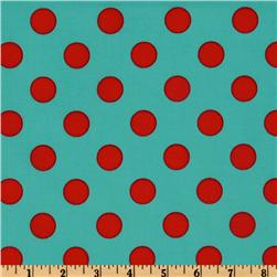Michael Miller Quarter Dot Aqua Fabric