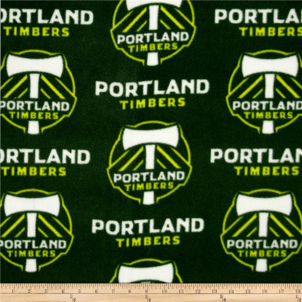 MLS Fleece Portland Timber Green Fabric By The Yard