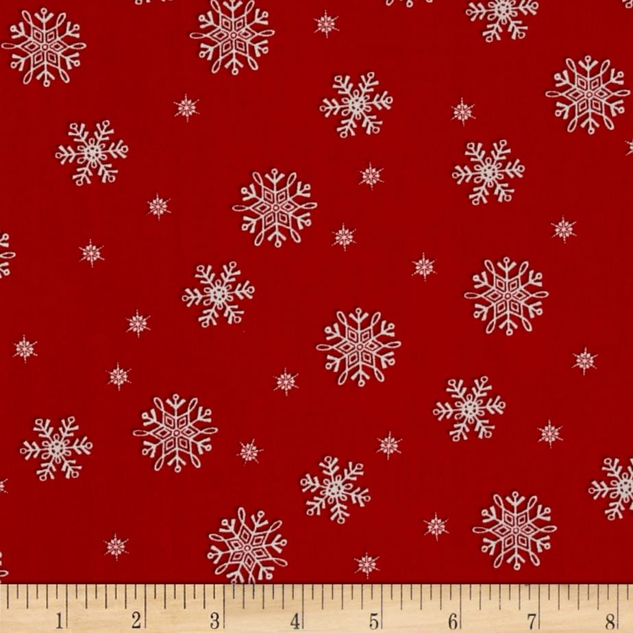 Frosty Flakes Snowflakes Red