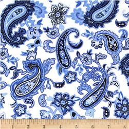 Blues Clues Large Floral Paisley Blue/White