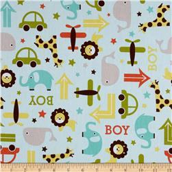 Riley Blake Home Decor Boys Toys Aqua