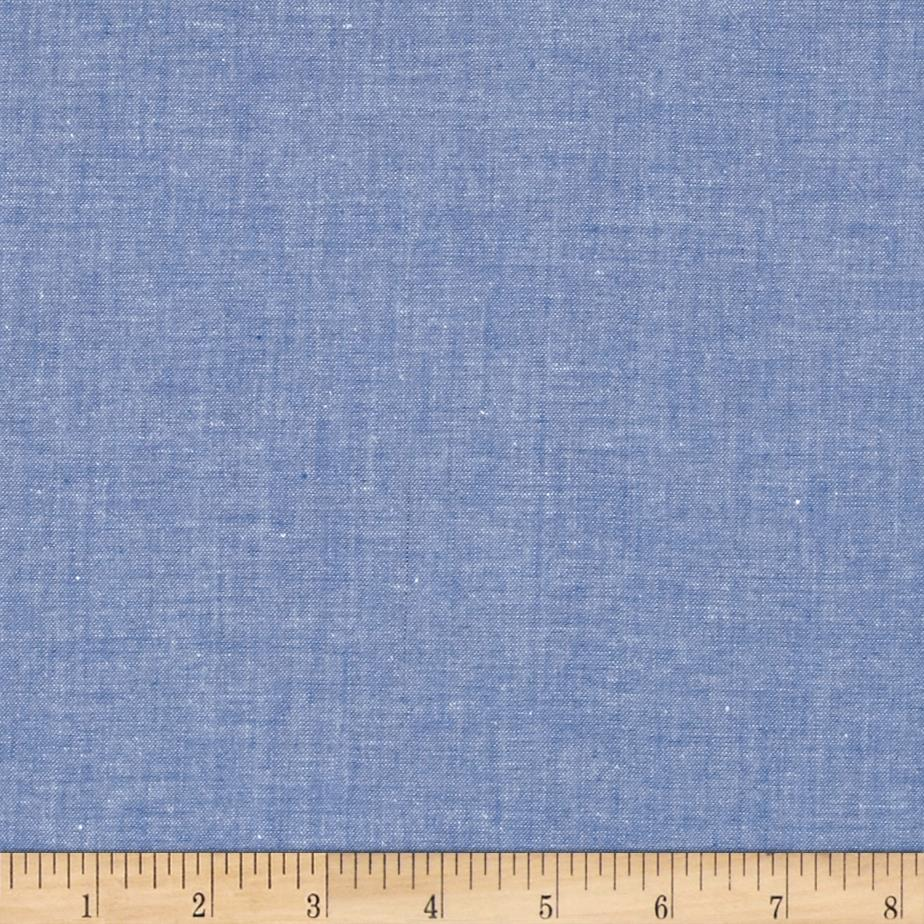 Moda chambray medium blue discount designer fabric for Chambray fabric