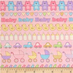 Baby Talk All In A Row Pastel Pink