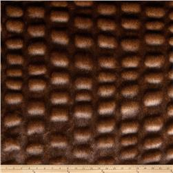 Tissavel Luxury Faux Shar-Pei Mink Fur Brown Fabric