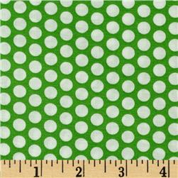 Basic Training Medium Dot Lime Green/White