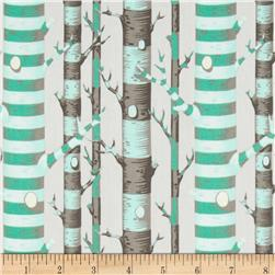 Tula Pink Bumble Forest Stripe Jade Fabric
