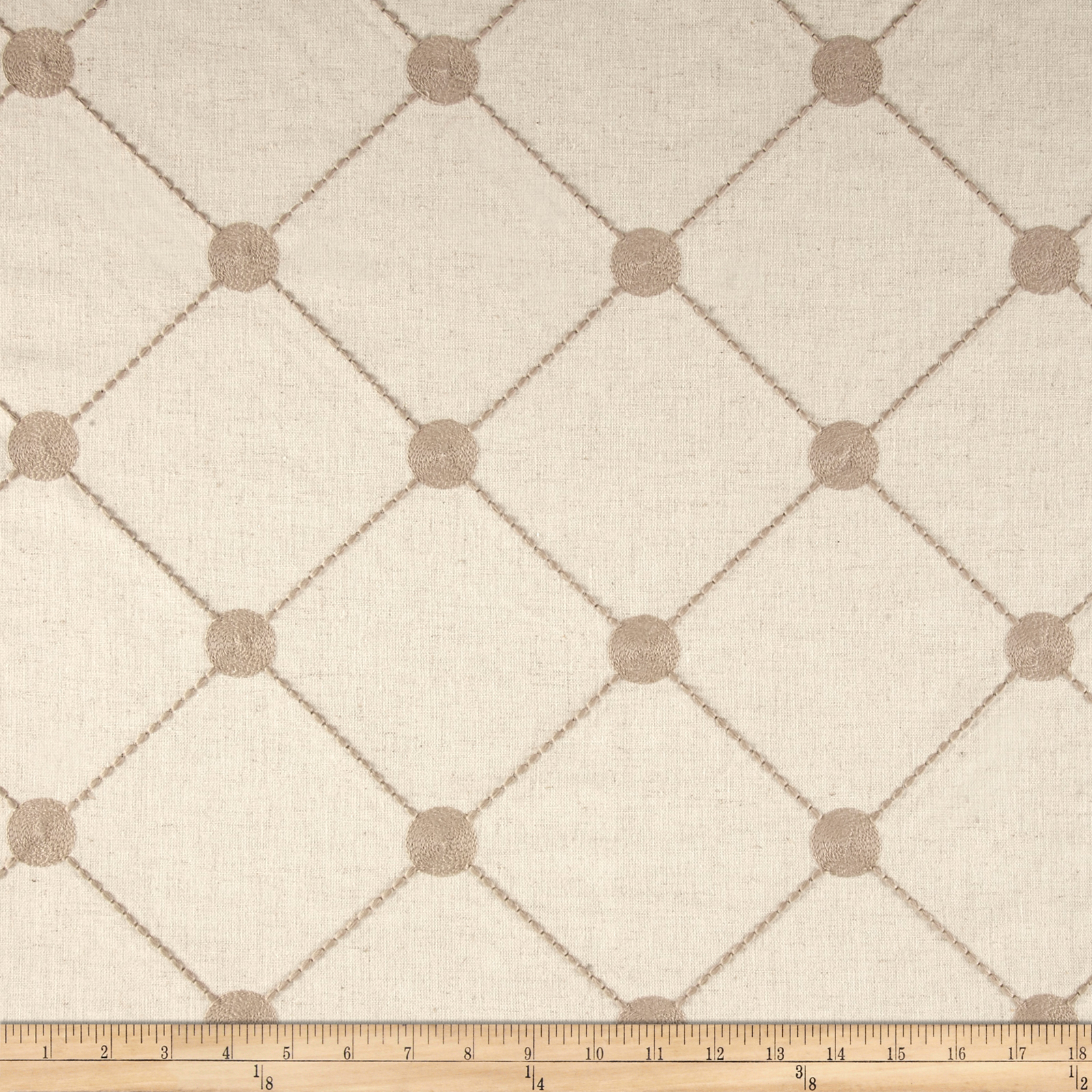Kelly Ripa Home Fanfare Embroidered Pebble Fabric by Waverly in USA