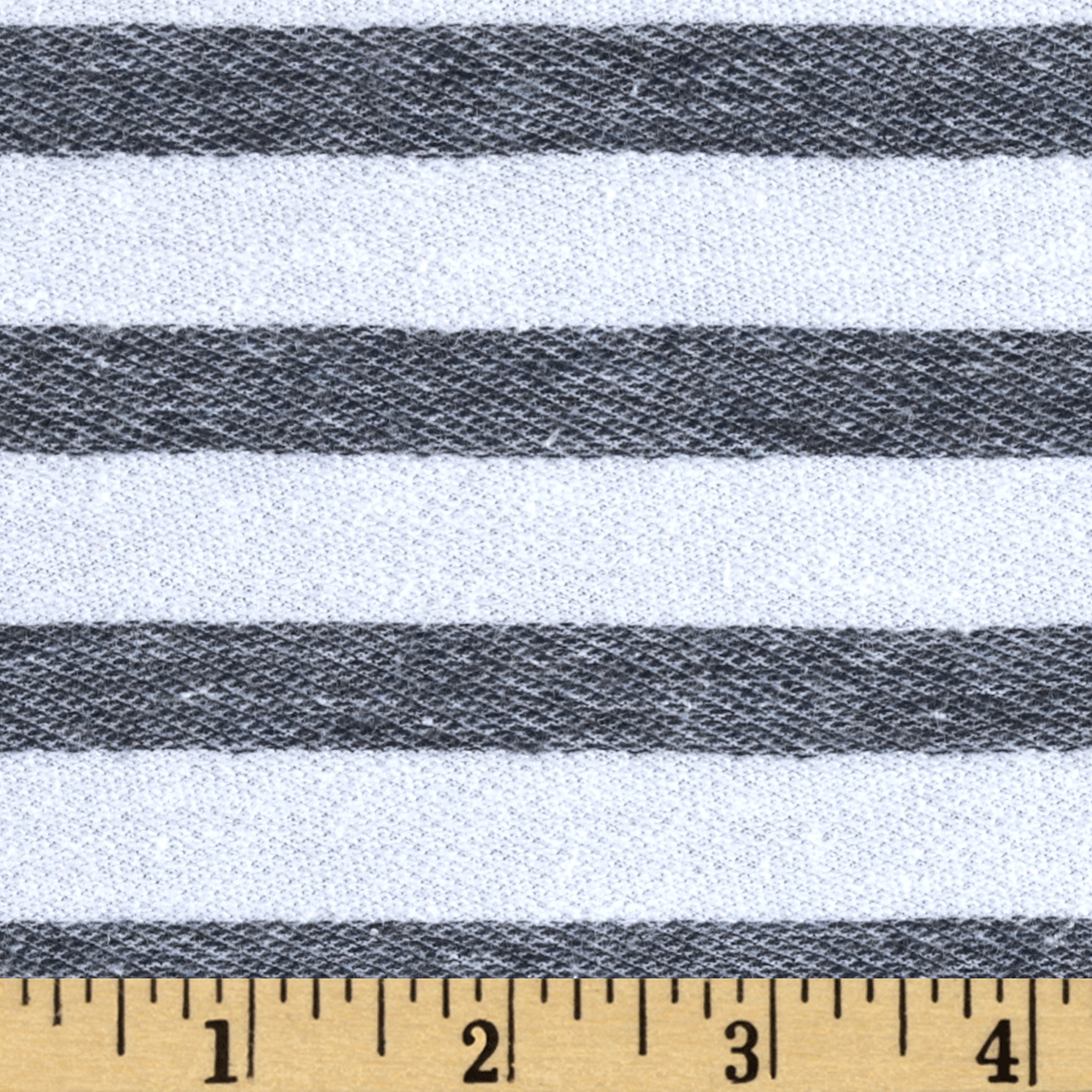 Designer Pique Knit Stripes White/Navy Fabric
