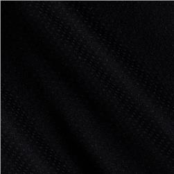 Lycra Blend Pointelle Jersey Knit Black