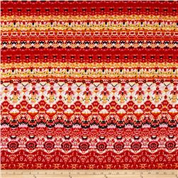 Liverpool Double Knit Abstract Arabesque Red