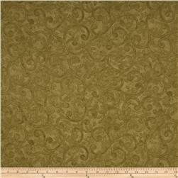 "Left Bank Wide Scroll 104"" Quilt Back Scroll Sage"