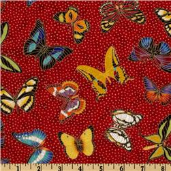 Tossed Butterflies Red