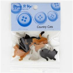 Dress It Up Embellisment Buttons  Country Cats