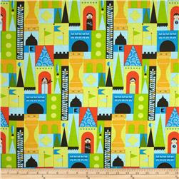 Michael Miller Soft Top Castle Blocks Multi Fabric