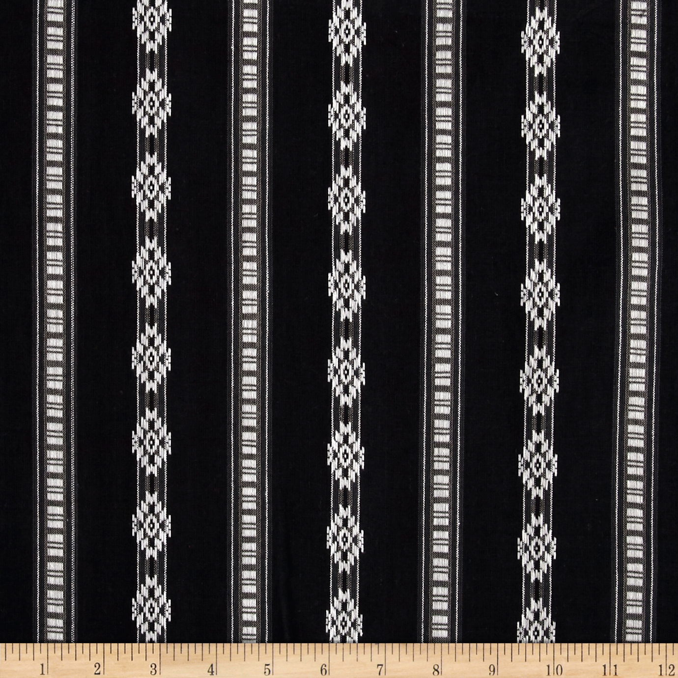 Hudson Bay Diamond Dobby Shirting Black/White Fabric by Textile Creations in USA