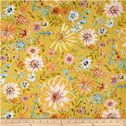 Butterfly Garden Watercolor Floral Yellow