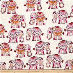 Valorie Wells Jules & Indigo Large Elephants Pomegranate