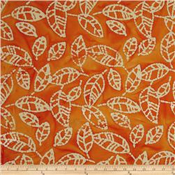 Indian Batik Arcadia Tea Leaf Orange