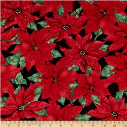 Christmas Joy Packed Poinsettias Black/Red
