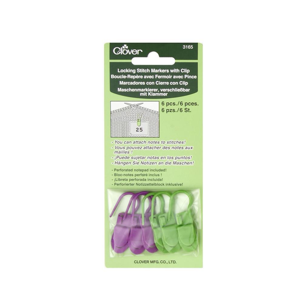 Clover Locking Stitch Markers with Clips