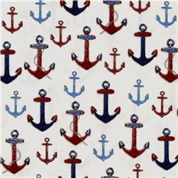 Kaufman Down By The Sea Anchors Ivory