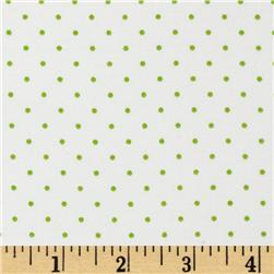 Tiny Dot White/Lime