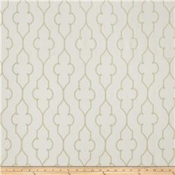 Fabricut Faux Dupioni Silk Akers Lattice Parchment