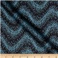 Lewis & Irene Northern Lights Metallic Wavy Stripe Navy