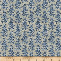 Molly B's 1800's Bessie's Blues Branches on Pindot Blue