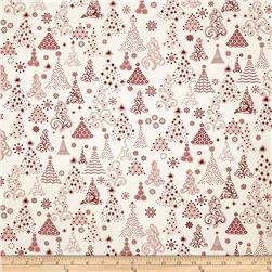 Winter Essentials Christmas Trees White/Red