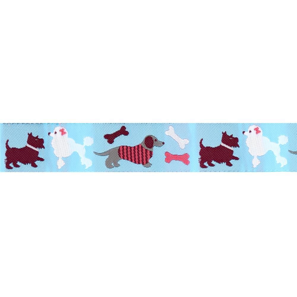 Jessica Jones Dogs Woven Ribbon Blue