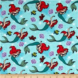 Disney Little Mermaid Flannel Ariel Toss Teal