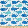 Timeless Treasures Cute Whales White