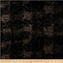 Minky Soft Onyx Cuddle Black/Taupe Fabric