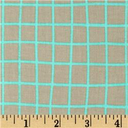 Cotton & Steel Moonlit Grid Aqua