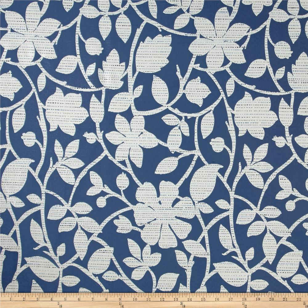 Richloom perrin jacquard blue discount designer fabric for Jacquard fabric