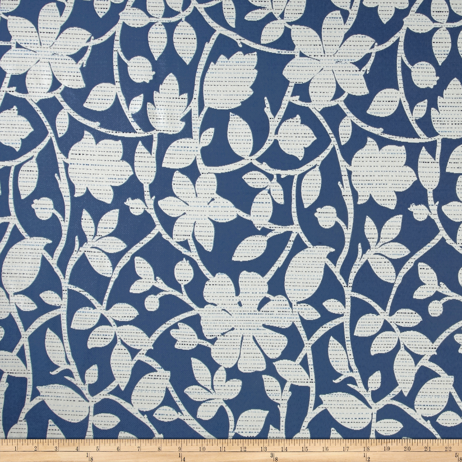 Richloom Perrin Jacquard Blue Fabric by TNT in USA