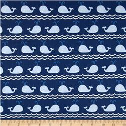 True Blue Rowing Blue Fabric