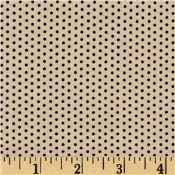 Mangia, Mangia! Pin Dots Tan/Black