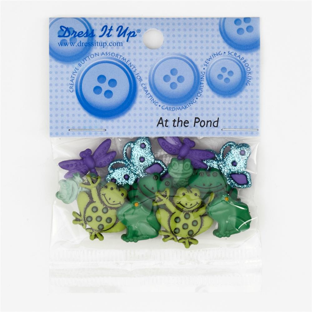 Dress It Up Embellishment Buttons  At The Pond