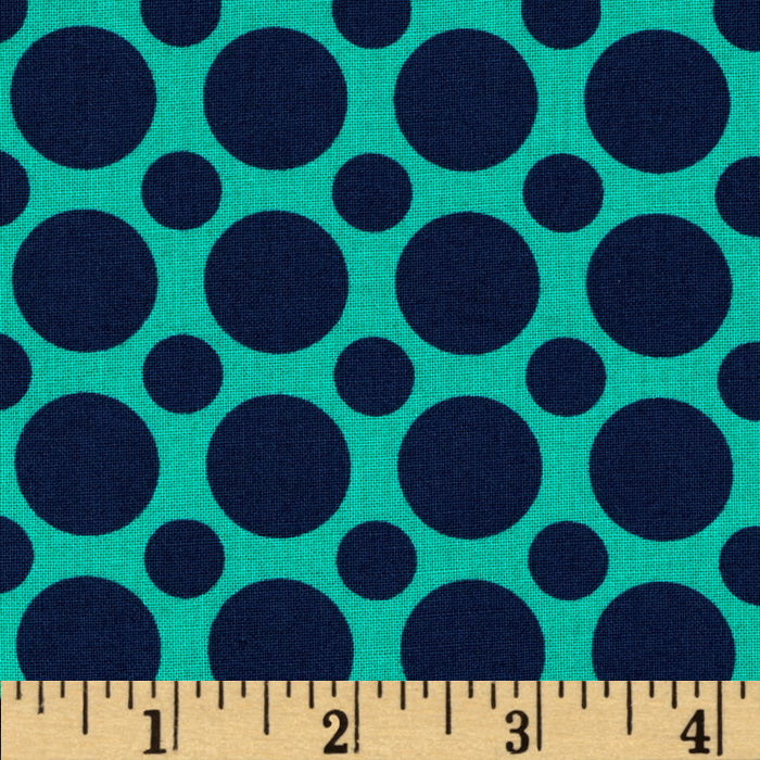 Kaufman Spot On Large Dot Nautical Fabric